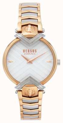 Versus Versace | Damen zweifarbiges Armband | weißes Zifferblatt | VSPLH0719