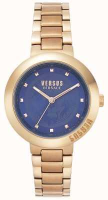 Versus Versace Damen-Roségold-Armband | blaues Zifferblatt | VSPLJ0819