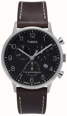 Timex | herren waterbury classic chrono | schwarzes Zifferblatt | TW2T28200D7PF