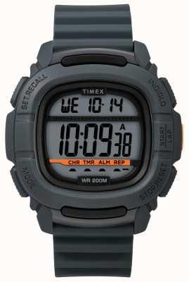 Timex   Stoßdämpfer grau digital   Gummiband TW5M26700SU