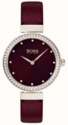 Boss | Damen Burgunder Lederband | 1502481