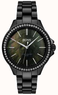 Hugo Boss | Damenuhr aus schwarzem Edelstahl | 1502456