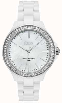 Hugo Boss | Damen weißes Armband | weißes Zifferblatt | 1502454