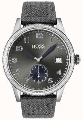 BOSS | graues Canvas-Armband für Herren | Legacy-Uhr | 1513683