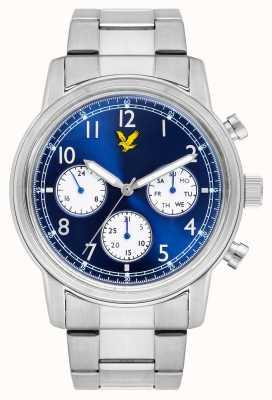 Lyle & Scott Herren Command Edelstahl Armband blaues Zifferblatt LS-6005-22