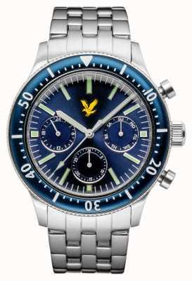 Lyle & Scott Herren Jacklin Edelstahl Armband blaues Zifferblatt LS-6009-22