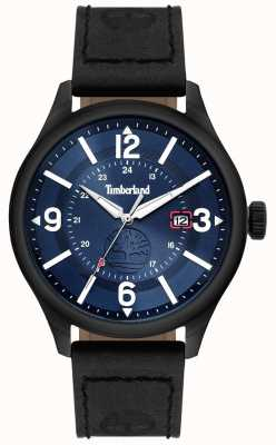 Timberland | Mens Blake | schwarzes Lederarmband | blaues Zifferblatt | 14645JSU/03