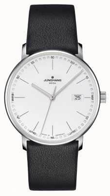 Junghans Herrenform mega funkgesteuertes schwarzes Leder 058/4930.00
