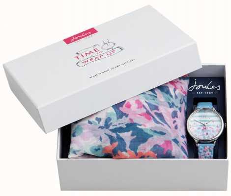 Joules | Damenuhr und Schal Geschenkset | JSL015USSET