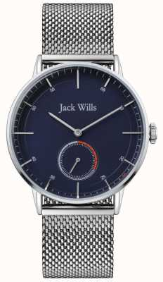 Jack Wills | Herren Batson II | Armband aus Stahlgewebe | blaues Zifferblatt | JW002BLMH