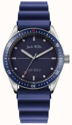 Jack Wills | Mens Mill Bay | blaues Kautschukband | blaues Zifferblatt | JW015RBBL