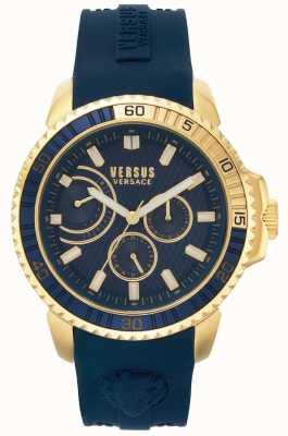 Versus Versace | Herren Aberdeen | blaues Kautschukband | blaues Zifferblatt | VSPLO0219
