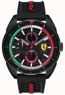 Scuderia Ferrari | herren forza | schwarzes Kautschukband | schwarzes chronographen zifferblatt | 0830577