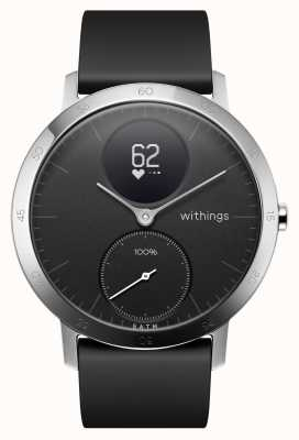 Withings Stahl hr 40mm schwarzes Silikonarmband HWA03-40BLACK-ALL-INTER