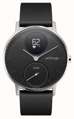 Withings Stahl hr 36mm schwarzes Silikonarmband HWA03-36BLACK-ALL-INTER