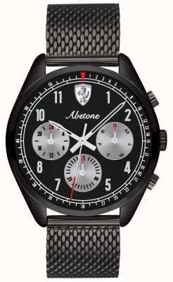 Scuderia Ferrari | Herren abetone | schwarzes mesh armband | schwarzes Zifferblatt | 0830573