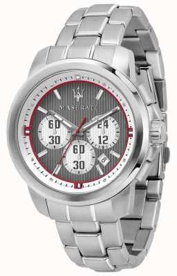 Maserati Royale Chronograph graues Zifferblatt Edelstahlarmband R8873637003