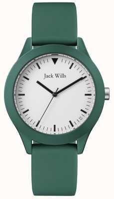Jack Wills | Herren grünes Kautschukband | weißes Zifferblatt | JW009GRGR