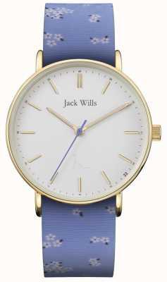 Jack Wills | damen sandhill blau silikonband | weißes Zifferblatt | JW018FLBL