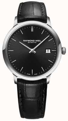 Raymond Weil | Herren toccata schwarzes Leder | schwarzes Zifferblatt | 5485-STC-20001