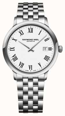 Raymond Weil | Herren Toccata Edelstahl Armband | weißes Zifferblatt | 5485-ST-00300