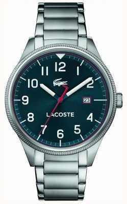 Lacoste | kontinentale Männer | Edelstahlarmband | blaues Zifferblatt | 2011022