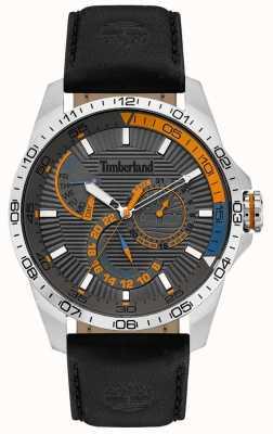 Timberland | Herren Oakham Uhr | schwarzes Lederarmband | graues Zifferblatt | 15641JS/13