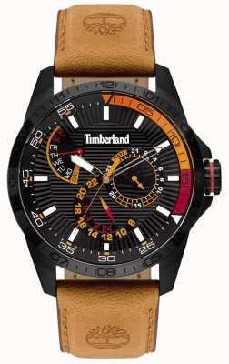 Timberland | Herren Oakham Uhr | Tan Lederband | schwarzes Zifferblatt | 15641JSB/02
