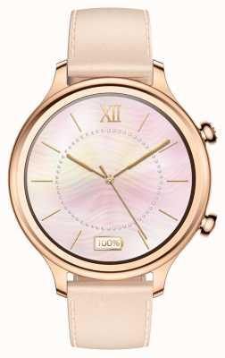 TicWatch C2 | roségold smartwatch | Lederriemen 131584-WG12056-RG