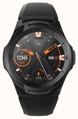 TicWatch | s2 | Mitternacht Smartwatch | schwarzes Silikonband 131585-WG12016-BLK