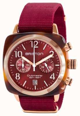 Briston Klassisches Clubman-Azetat-Goldrot-Nato-Armband 15140.PRA.T.8.NBDX