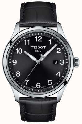 Tissot | Herren xl | schwarzes Zifferblatt | schwarzes Lederarmband | T1164101605700