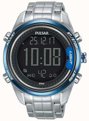Pulsar Digitales Herrenarmband aus Edelstahl P5A003X1