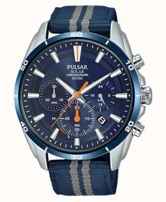 Pulsar Herren Chronograph blaues Nylonband blaues Zifferblatt PZ5089X1