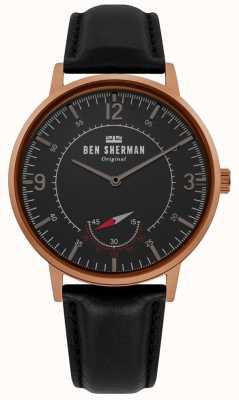 Ben Sherman | herren portobello erbe | schwarzes Zifferblatt | schwarzes Leder | WB034B