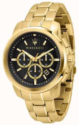 Maserati Successo Herrenuhr vergoldet R8873621013