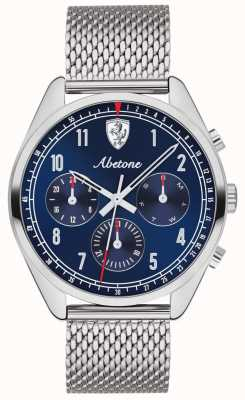 Scuderia Ferrari | Herren abetone | blaues Zifferblatt | silbernes mesh armband | 0830572