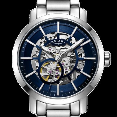 Rotary | Mens Greenwich Skelett | Edelstahlarmband | GB05350/05