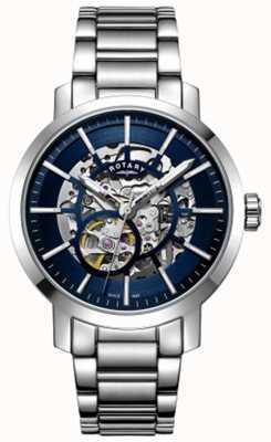 Rotary | Herren Greenwich Skelett | Edelstahlarmband | GB05350/05
