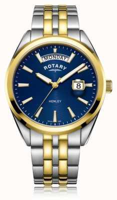 Rotary | herren henley | blaues Zifferblatt | Edelstahlarmband | GB05291/05