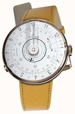 Klokers Klok 08 weisser Uhrenkopf Newport gelb Einzelarmband KLOK-08-D1+KLINK-01-MC7.1