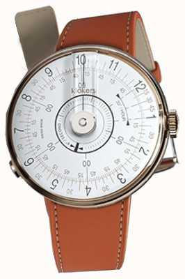 Klokers Klok 08 weißer Uhrenkopf orange Alcantara-Einzelarmband KLOK-08-D1+KLINK-01-MC5
