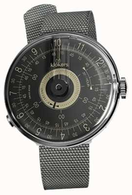 Klokers Klok 08 schwarzes Zifferblatt aus Stahl-Milano-Armband KLOK-08-D3+KLINK-05-MC1