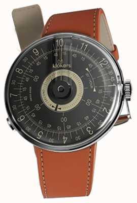 Klokers Klok 08 schwarzes Zifferblatt orange Alcantara-Armband KLOK-08-D3+KLINK-01-MC5