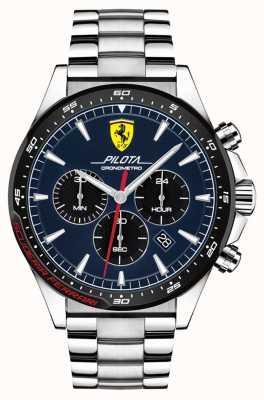 Scuderia Ferrari | Pilota der Männer | Edelstahlarmband | blaues Zifferblatt | 0830598
