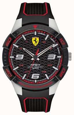 Scuderia Ferrari | Herrenspitze | schwarzes Kautschukband | schwarzes Zifferblatt | 0830630