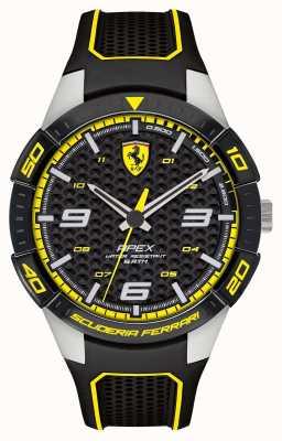 Scuderia Ferrari | Herrenspitze | schwarzes Kautschukband | schwarzes / gelbes Zifferblatt | 0830631