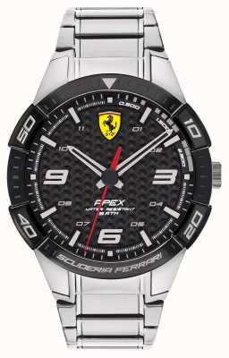 Scuderia Ferrari | Spitze der Männer | Edelstahlarmband | schwarzes Zifferblatt | 0830641