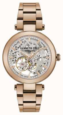 Kenneth Cole | Damen Automatik | Roségold-Armband | roségoldenes Zifferblatt | KC50799002