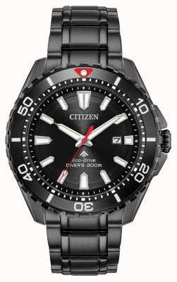 Citizen Herren Promaster Taucher Eco-Drive schwarz pvd plattiert BN0195-54E